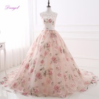 Fmogl Romantic Scoop Neck Lace Up Sweet 16 Dress Ball Gown Quinceanera Dresses 2019 Appliques Pearls Debutante Gown for 15 anos