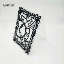 PANFELOU пасхальные часы кружево папки для тиснения пластик для скрапбукинга DIY шаблон помадка торт фотоальбом изготовление карт