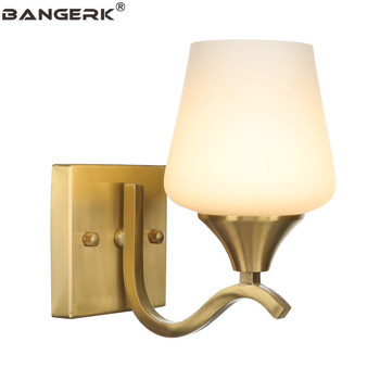 American Modern LED Wall Light Loft Style Brass Glass Wall Lamp Decor Sconces Bedside Home Lighting Fixtures E27 110V/220V