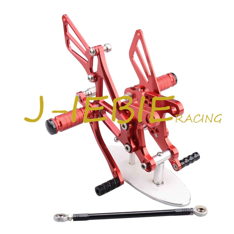CNC Racing Rearset Adjustable Rear Sets Foot pegs Fit For Kawsaki NINJA ZX6R 2005 2006 2007 2008 RED morais r the hundred foot journey