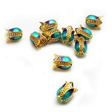 10 Pcs/Pack Cloisonne Spacers Beads Colorful Flower Spacer Beads For DIY Jewelry Making Accessories