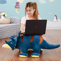 new creative triceratops toy stuffed blue dinosaur toy doll gift about 90cm
