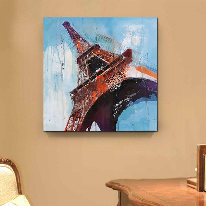 Torre Eiffel nueva pared arte lienzo cuadros de pared para la sala ...