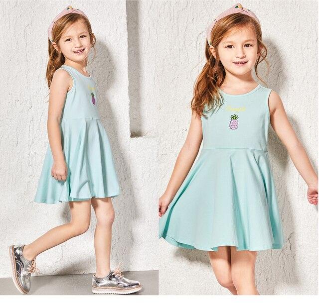 7dd77f7885f87 Balabala اثنين pcs الكثير فستان زهري الصيف ملابس للبنات قصيرة الأكمام جميلة  الكشكشة خليط عارضة فساتين للفتيات