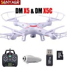 Volando Cámara Helicóptero DEL RC 2.4G 4CH 6-Axis Drone X5C-1 DM con Cámara HD X5 X5C Quadcopter y DM005 sin cámara Dron