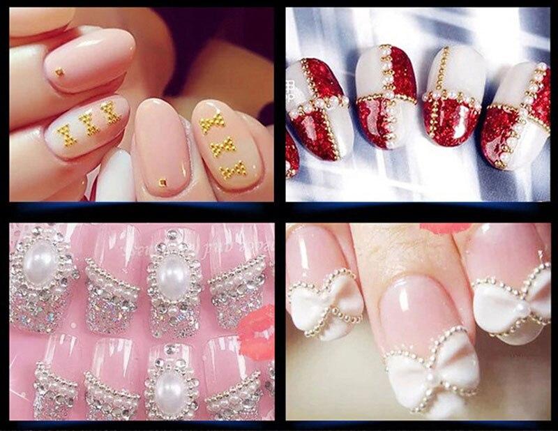 Nuevas decoraciones del arte del clavo oro rosa Micro granos del ...