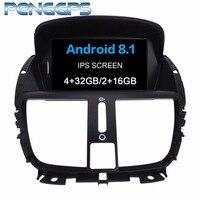 Android 8,1 система 2 Din автомобиля радио для peugeot 207 2008 2014 gps навигация CD DVD плеер ips экран HIFI музыка 8 Core головного устройства