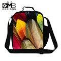 Теплоизолирующего сумка для детей красочные перо обед студенты сумка женская пикник мешок еды Bolsa Termica