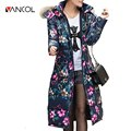 Vancol 2016 Winter Women Jacket Down European Luxury Nagymaros Collar Down Padded Cotton Long Knee Thick Plus Size Winter Parka