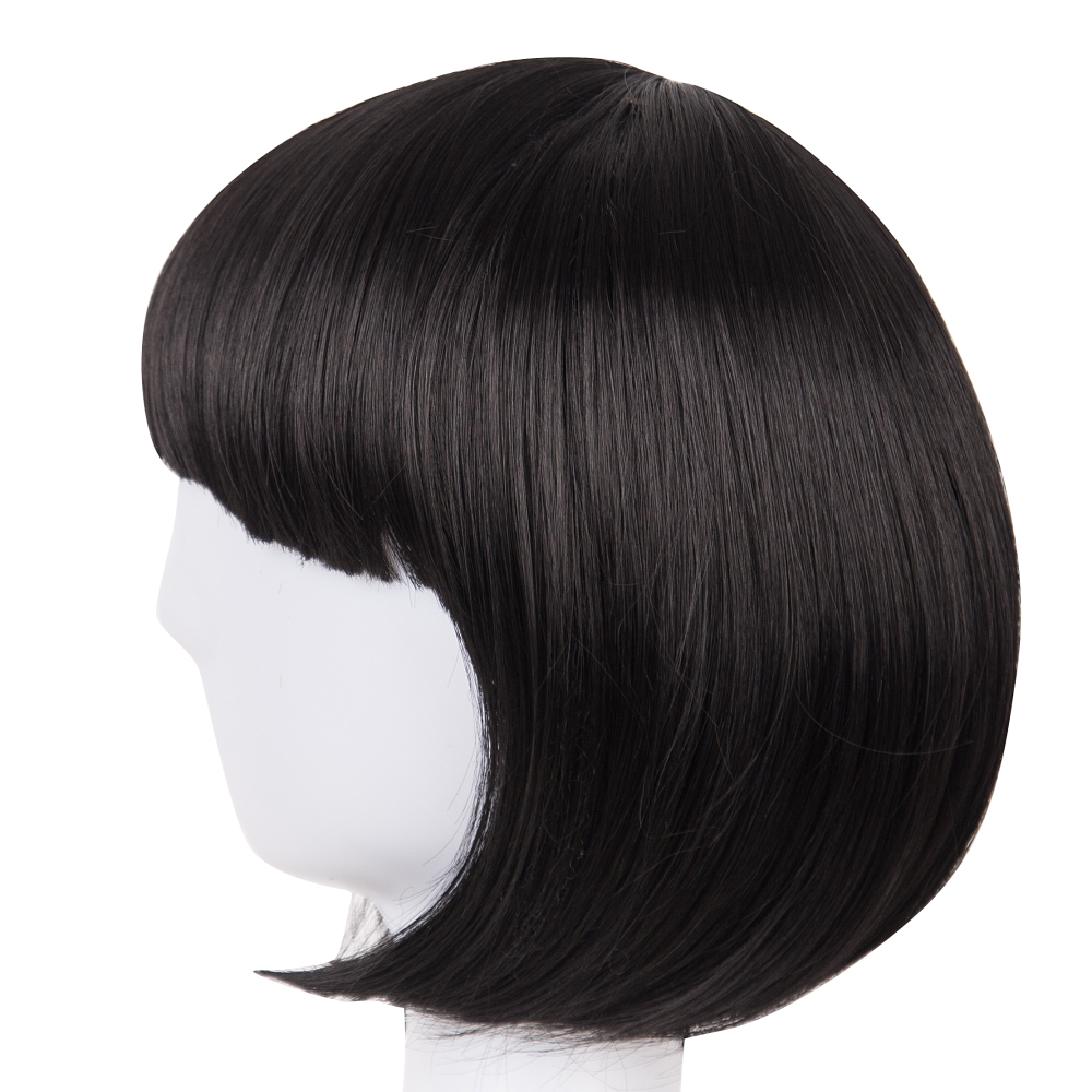 Hair Extensions & Wigs Brilliant Short Wig Fei-show Synthetic Heat Resistant Fiber Wavy Inclined Bangs Hair Brown And Blue Costume Cos-play Salon Party Hairpiece Synthetic None-lacewigs