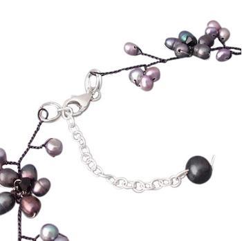 Nouveau Arriver fleur bijoux noir perle d'eau douce ronde ovale Shaper collier boucles d'oreilles Top qualité en gros nouveau livraison gratuite - 2