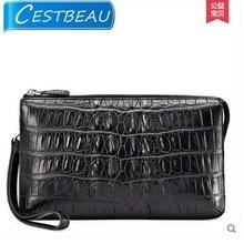 цена на 2019 Cestbeau crocodile leather men clutch bag business crocodile leather man bag   large capacity crocodile skin men handbag