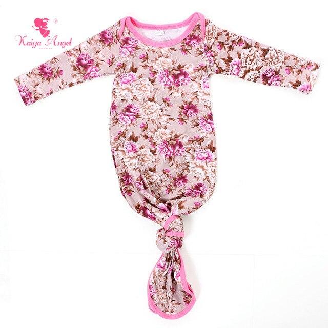 Kaiya Angel Baby Sleeping Gown Floral Tie Pink Newborn Baby Sleeper