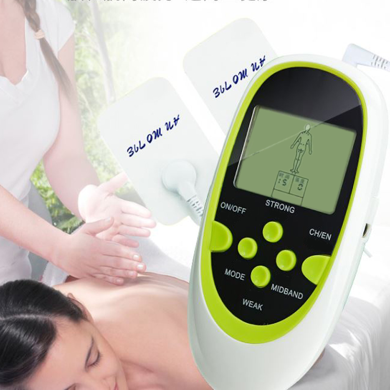 Dual-Output Electric Massager Electrical Stimulator Full Body Relax Muscle Therapy Massager Massage Pulse tens Acupuncture quality guaranteed new silver color large lcd screen mini electric massager digital pulse therapy muscle full body massager