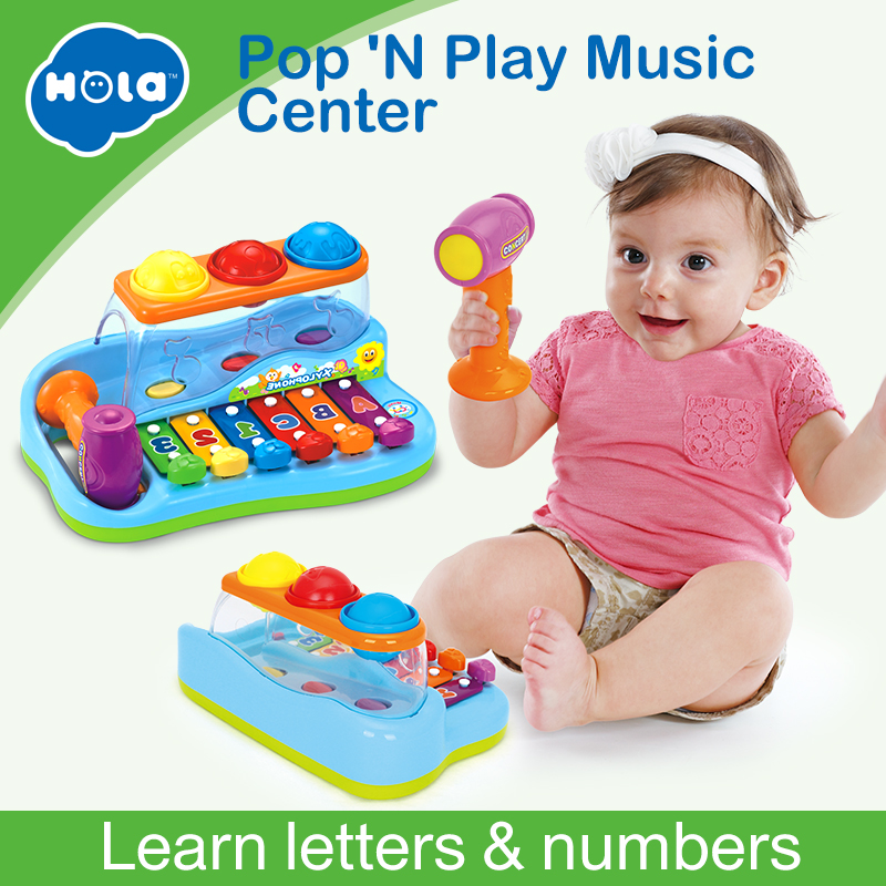 Cheap Baby Toys Xylophone Musical Toys Knocking On Wood Piano with Balls and Hammer Baby Music Educational Toys Instrument  Gift