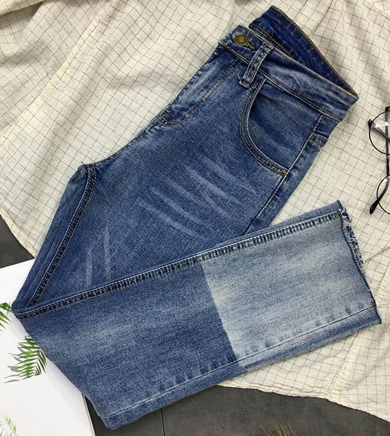 Long Pantalon Z946 Décontracté De Style Élégant Femmes Longs Ami Mode Denim Jeans Couleur Poche Blue Petit Bloc Maigre Coréenne tqx4TfnE