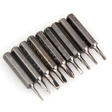 Portable 10 In 1 Precision Screwdriver Bit Set Torx Star Phillips Repair Tool Kit for Home Office Electronics(China)