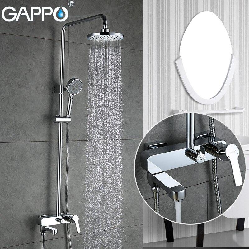 Gappo torneiras de chuveiro banheira misturador do banheiro cachoeira torneira da banheira montagem na parede do chuveiro sistema