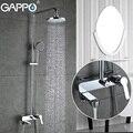 GAPPO Смесители для ванной комнаты Смеситель кран-водопад для ванной ванны Краны настенное крепление Душ системы