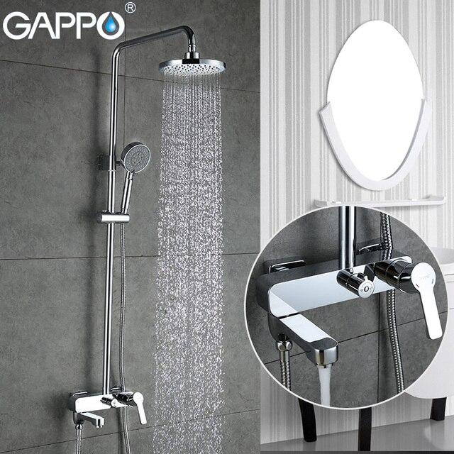 GAPPO Duş Musluk küvet mikser banyo şelale musluk Banyo küvet musluklar duvara monte duş Sistemi