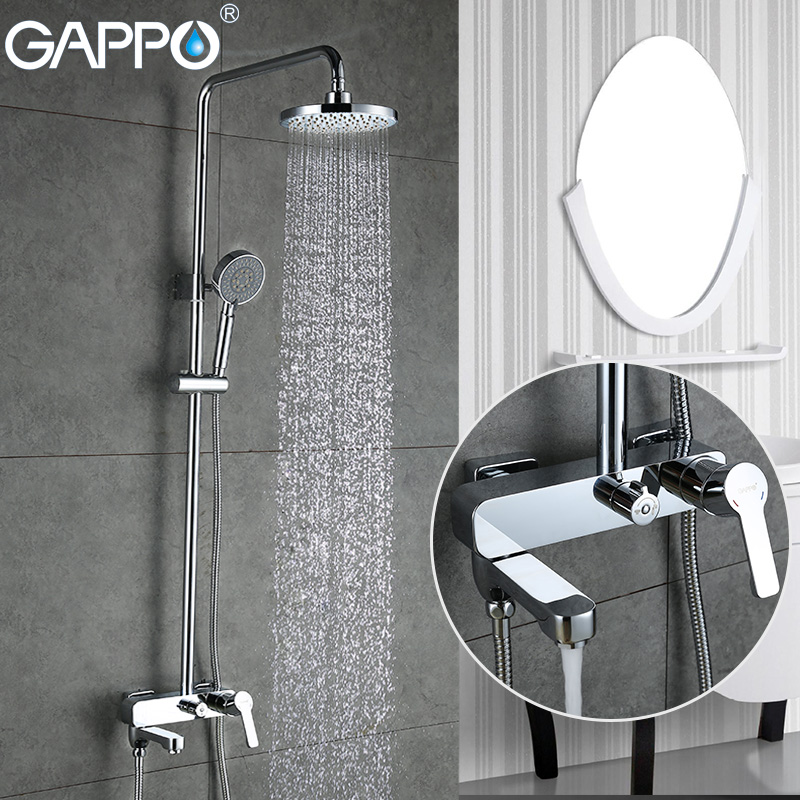 GAPPO Shower Faucets bath tub mixer bathroom waterfall faucet Bath tub taps wall mount Shower System