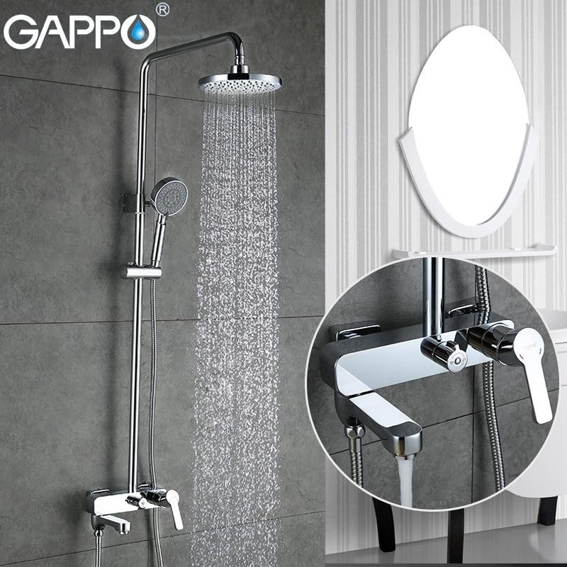 GAPPO Torneiras banheira cachoeira torneira do banheiro misturador Do Chuveiro banheira Sistema de montagem na parede Do Chuveiro torneiras