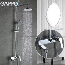 GAPPO grifos de ducha, mezclador de bañera, grifería de cascada para baño, grifos de bañera, sistema de ducha de montaje en pared