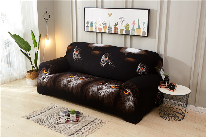 Stretchable Sofa Cover with Elastic for Sectional Couch Protects Sofa from Stains Damage and Dust 15