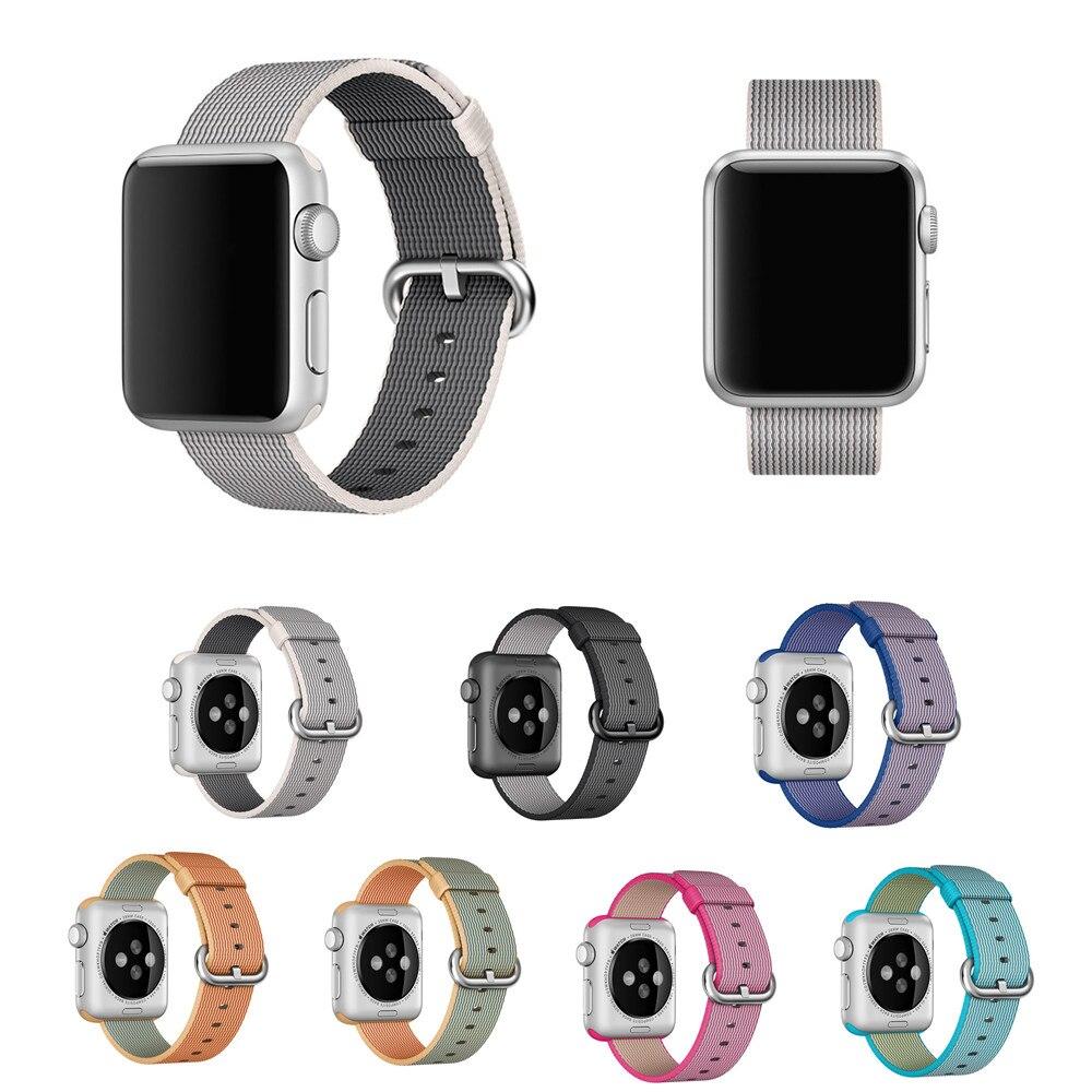 Sport Woven Nylon watch strap For apple watch nylon band 42 mm/38 bracelet wrist band men smart watch nylon watchband все цены