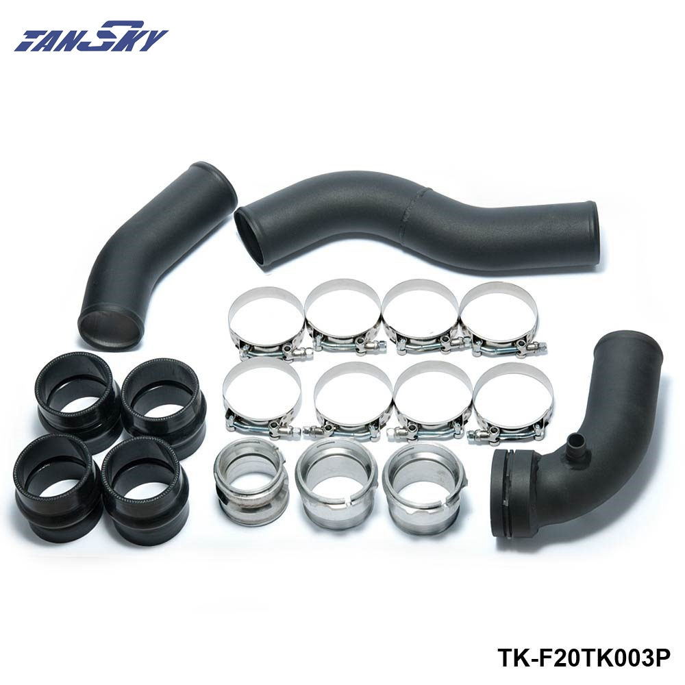 TANSKY - Intake Turbo charge pipe Cooling kit+Turbo Boost pipe For BMW 1 F20 F30 F31 N20 320i 328i 125i TK-F20TK003P epman universal 2 25 inch 57mm turbo intercooler aluminum pipe silicone hose kit black length 600mm for bmw e60 ep lgtj57 600