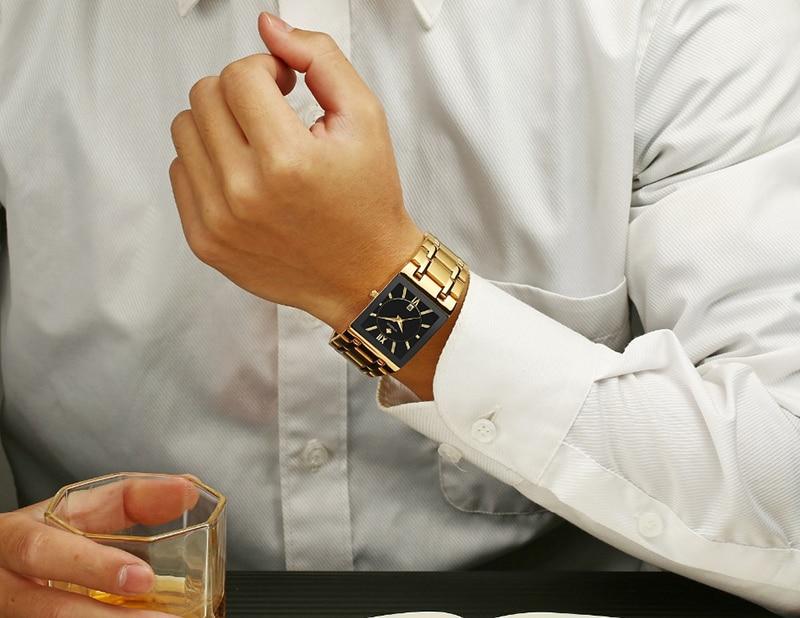 HTB1Lkl amSD3KVjSZFKq6z10VXaD Men Watches Top Brand Luxury WWOOR Gold Black Square Quartz watch men Waterproof Golden Male Wristwatch Men watches
