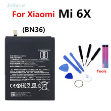 For Xiaomi BN36 Phone Battery Replacement For Xiaomi Mi 6X Mi6X Mi A2 MiA2 Battery Authentic Phone Batteries 3010mAh original xiaomi bn36 replacement battery for xiaomi mi 6x mi6x authentic phone batteries 3010mah