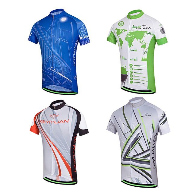 KEYIYUAN Cycling clothes Men s summer sunscreen Short sleeves breathable  blouse Mountain bike Bicycle shirt Fast walking ride cl 0c14bd295