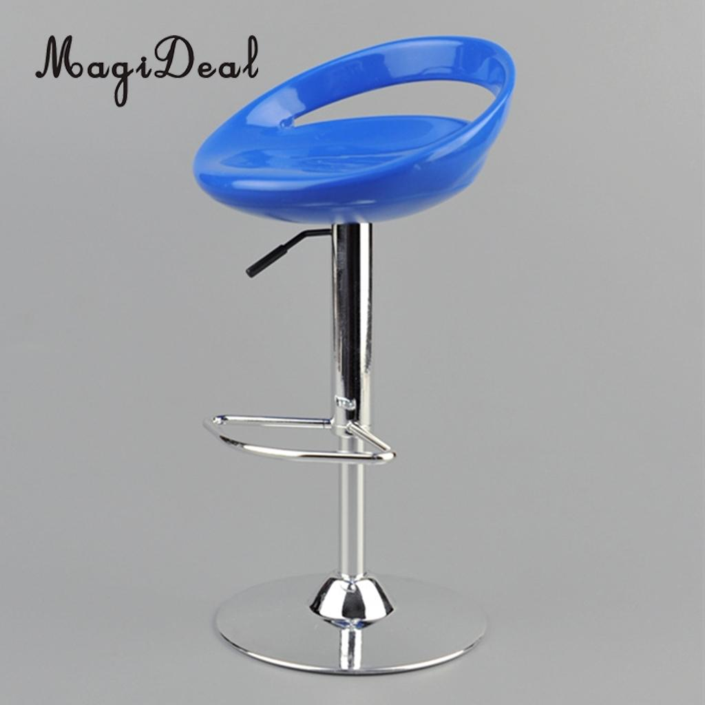 Us 11 33 27 Off Magideal 1 6 Scale Dollhouse Round Swivel Chair Pub Bar Stool Furniture Decor For 12 Inch Action Figure Dolls Acce Toy 6x14cm In