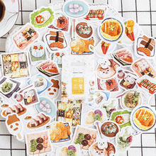 46 Pcs/pack Cute food Decorative Mini Sticker Adhesive Stickers DIY Diary Scrapbooking Stationery School Supplies