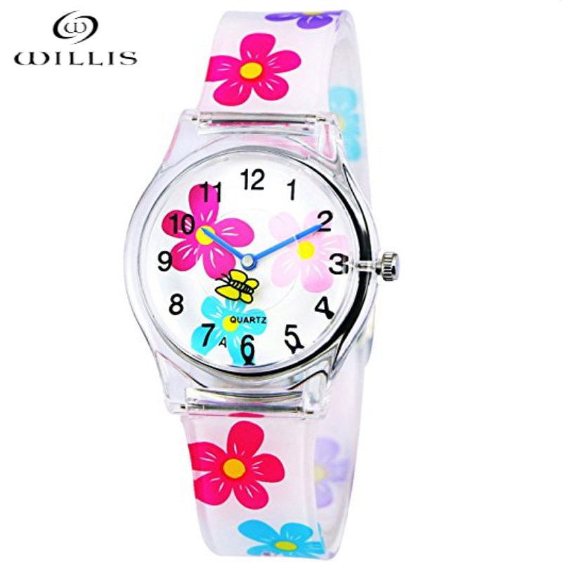 Willis merk casual meisje horloges mode voor vrouwen mini waterbestendig sport siliconen horloges kinderen cartoon plastic horloges