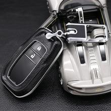 Для Toyota Hilux Fortuner Land Cruiser Camry, Crown RAV4 Highlander натуральная кожа Футляр для дистанционного ключа чехол-накладка мягкий чехол-держатель