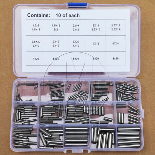 304 Stainless Steel 1.5 2 2.5 3 4 5 6mm Dowel Pin Rod Assortment Kit 100 pcs stainless steel 2 9mm x 15 8mm dowel pins fasten elements