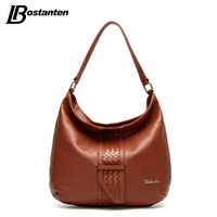 BOSTANTEN Cow Genuine Leather Women Bag Hobos Luxury Brand Famous Designer Handbags High Quality 2016 Leather