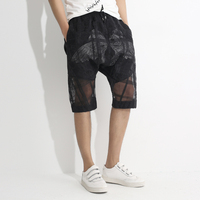 Transparent Shorts Men Double Layer Shorts Men Shorts Beach Cotton Blend See Through Sexy Mens Summer Shorts Casual Bermuda