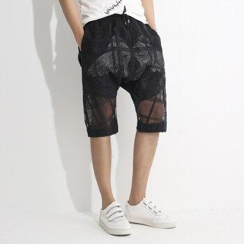 Hombres De Pantalones Transparente Shorts Doble Capa Cortos fxRnUvqw