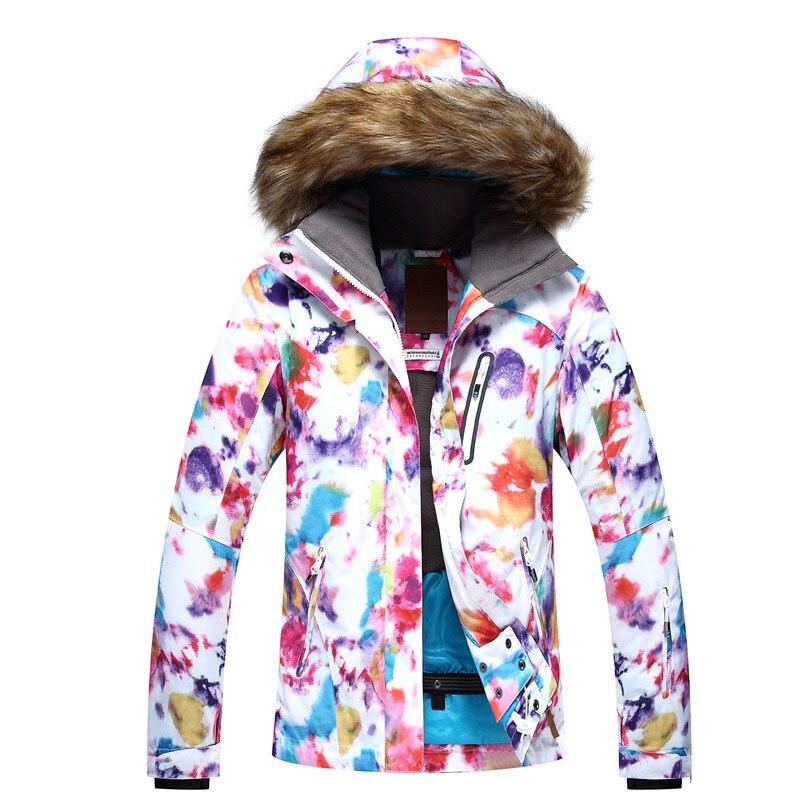 GSOU SNOW Womens Ski Suit Single Double Board Winter Outdoor Warm Windproof Waterproof Ski Jacket For Women Size XS-LGSOU SNOW Womens Ski Suit Single Double Board Winter Outdoor Warm Windproof Waterproof Ski Jacket For Women Size XS-L