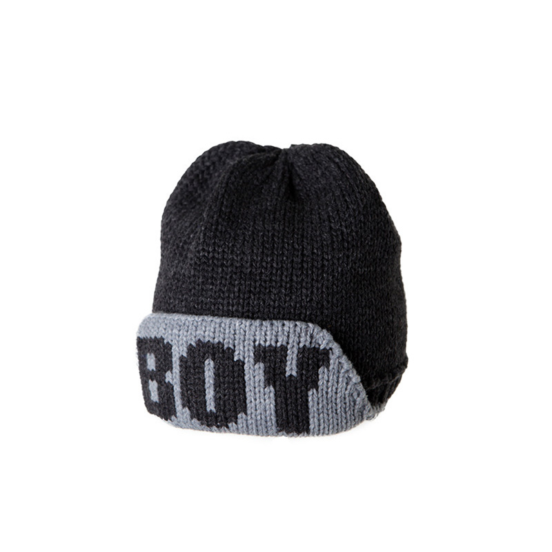 Hats with Letters for Women Winter Acrylic Knitted Cap BOY Outdoor Casual Beanies Thick Warm Hat Windproof Skullies Beanie hip hop beanie hat baggy unisex cap thick warm knitted hats for women men bonnet homme femme winter cap plus velvet beanies
