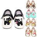 Fringe Borlas del Bebé Inferior suave Mocasín Zapatos pu Prewalkers Botas Gato de la Historieta de Los Bebés Recién Nacidos Zapatos De Bebé De Navidad
