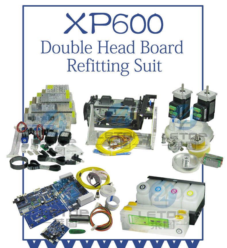 Double XP600 Printhead Hoson Papan Kit untuk Printer Memperbarui atau DX5 DX7 5113 Printer Dikonversi Ke XP600 Printer