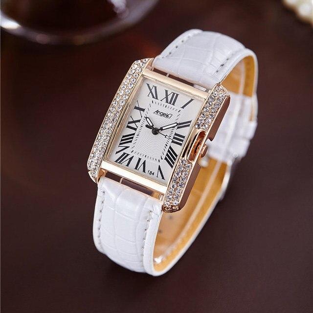 Площадь Роскошные Для женщин Часы горный хрусталь дамы наручные часы Для женщин кварцевые наручные часы женский часы кварцевые часы Relogio feminin