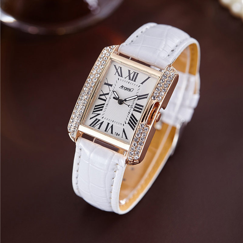 Square Luxury Women Watches Rhinestone Ladies Wristwatch Women's Quartz Wrist Watch Female Clock Quartz-watch Relogio Feminin