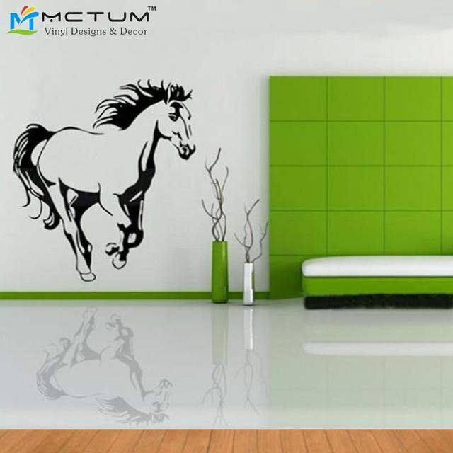 Galloping Horse Wall Murals Wall Art Cavalo Animal Poster Stencils For Wall  Decals Horses Wallpaper For Part 93