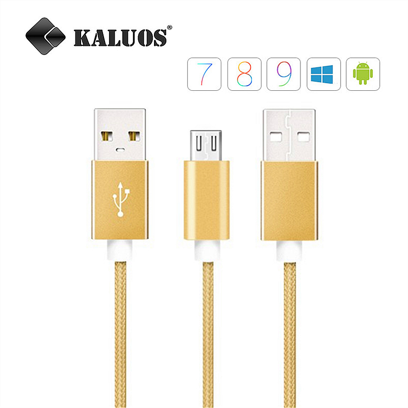 KALUOS USB Data Sync Fast C For Samsung S2 S3 S4 S6 S7 i9300 i9500 N7100 LG Moto Android Phone Cable Braided Charging Wire