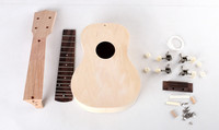 21 inch DIY ukulele small guitar uklele assembly material ukulele woodworking workshop Free Shipping